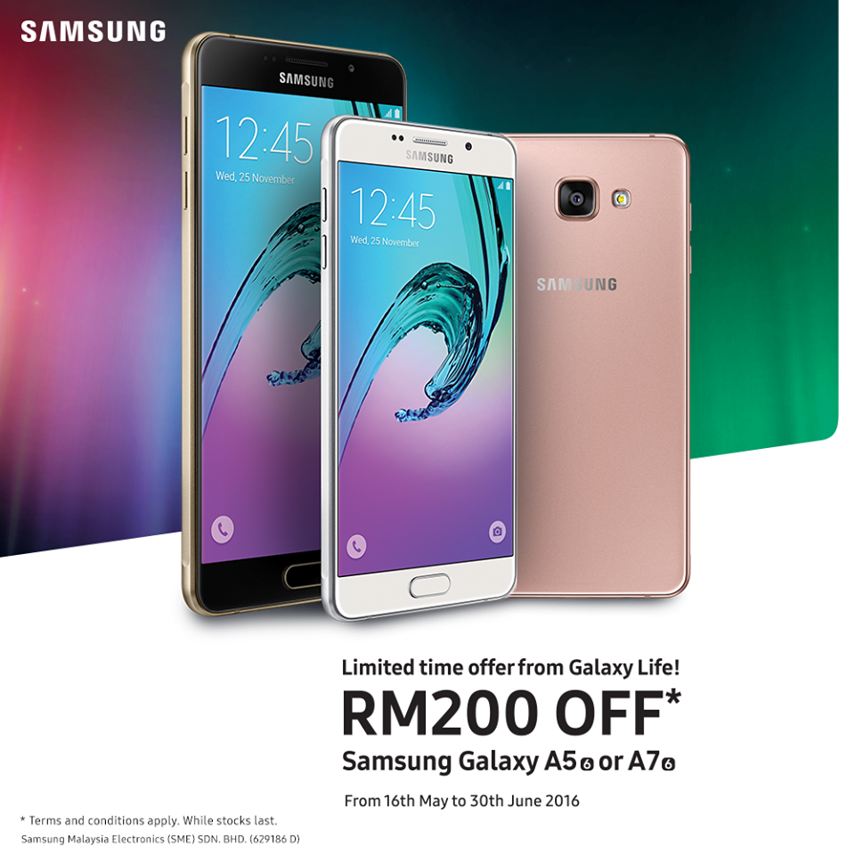Galaxy A 2016 - Get RM200 off your purchase!