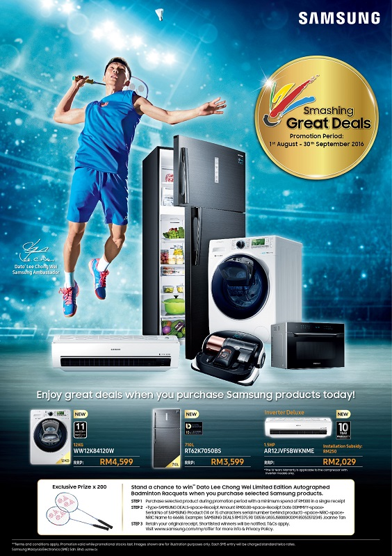 Smashing Great Deals - Samsung Digital Appliances