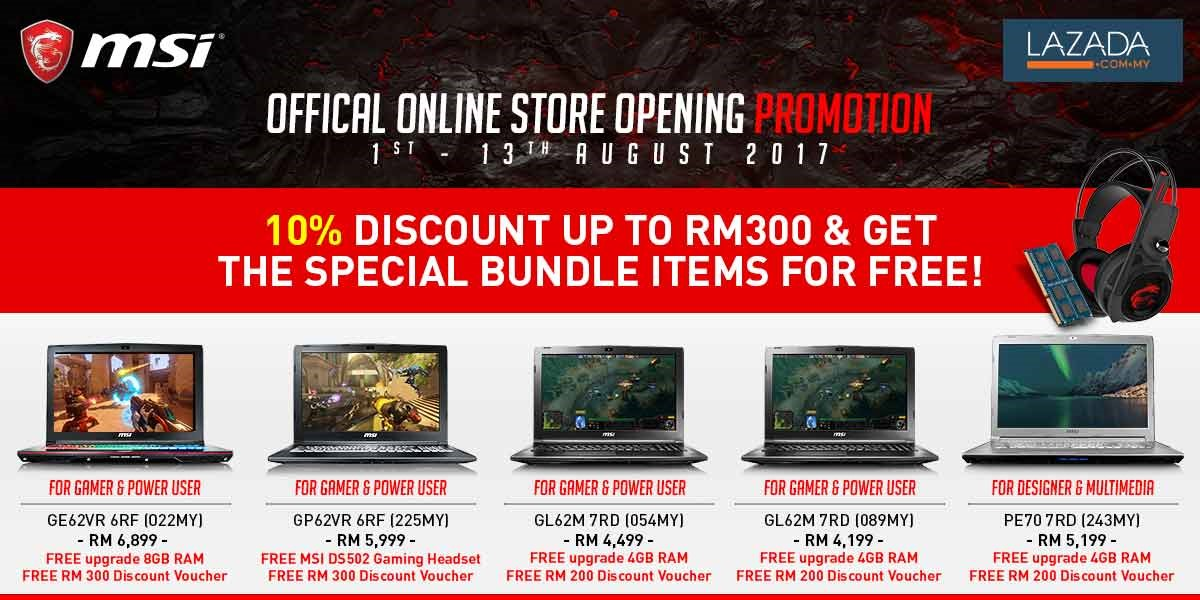 MSI GT75VR opens for pre-order at LAZADA official store at