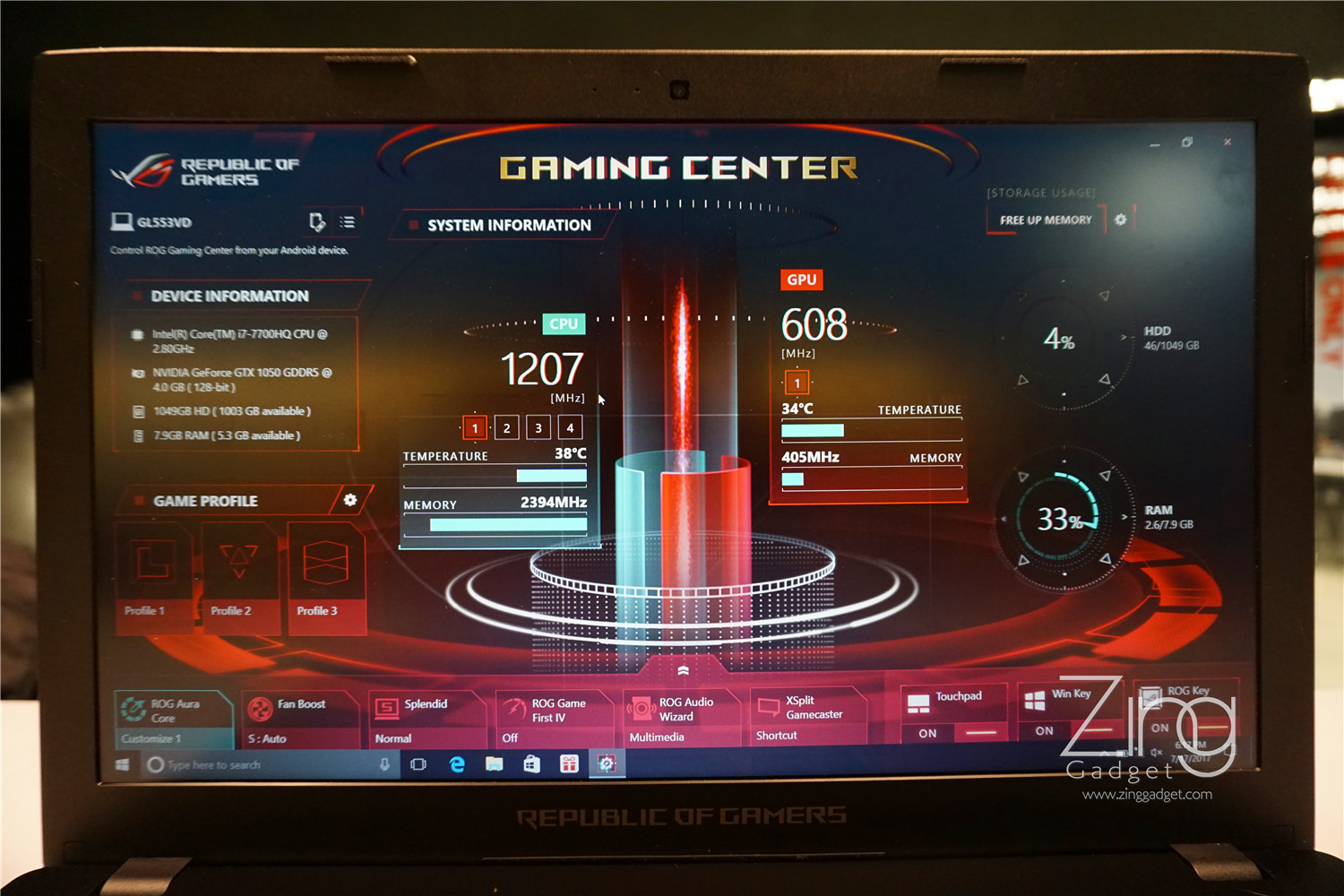 Rog Gaming Center Not Showing Gpu Temp