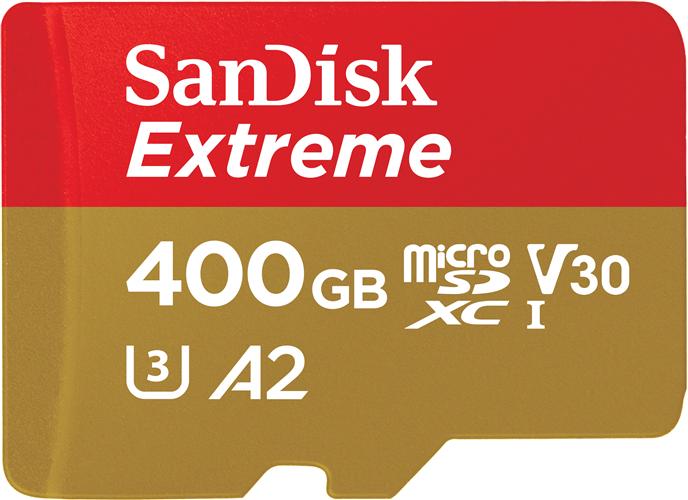400GB SanDisk ExtremeR UHS-I microSDXCTM card